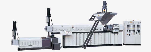 Double Section Recycling Pelletizing Extrusion Line