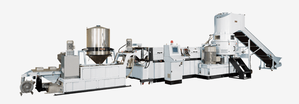 Side Shredding Type<br>Recycling Pelletizing Extrusion Line