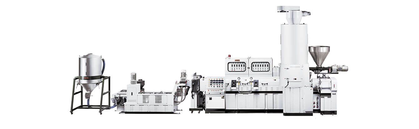 Side Force Feeder Type <br>Recycling Pelletizing Extrusion Line